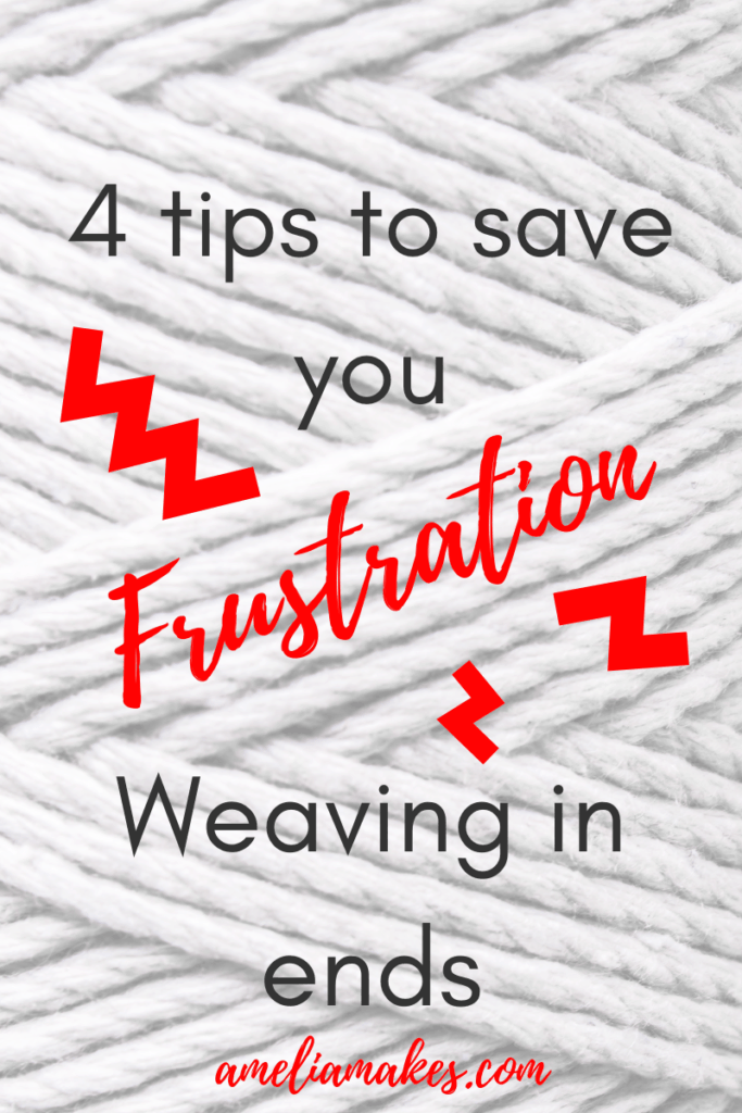tips for weaving in ends