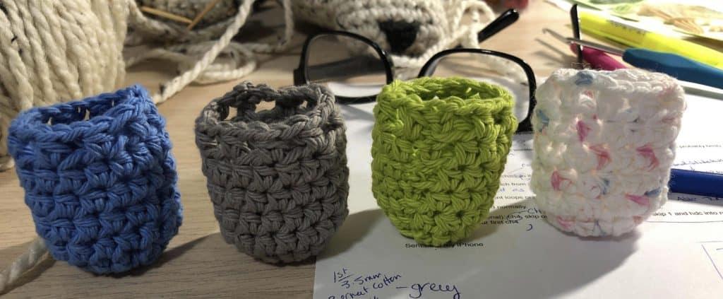 crochet chair socks