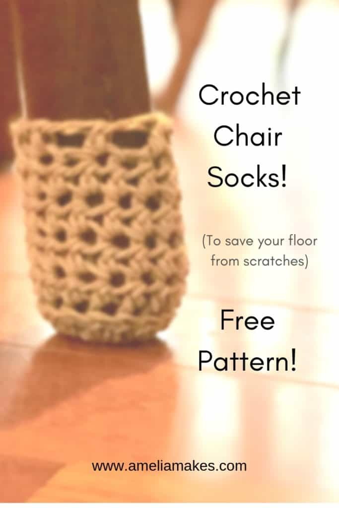 crochet chair sock