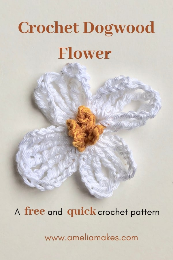 Pin-Crochet Dogwood Flower