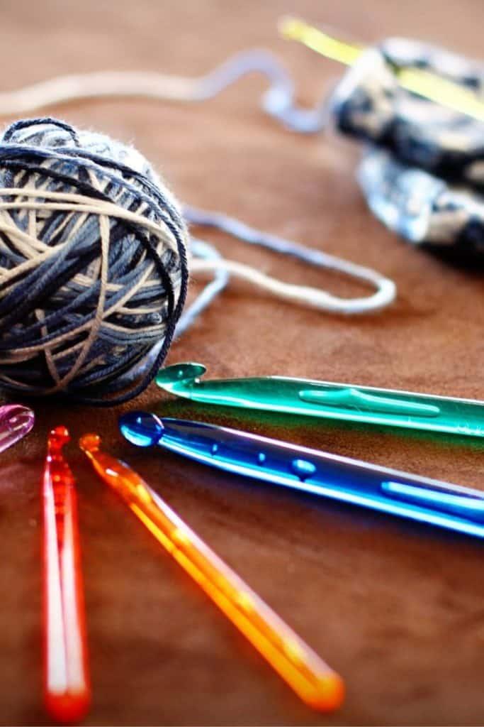 hooks and yarn