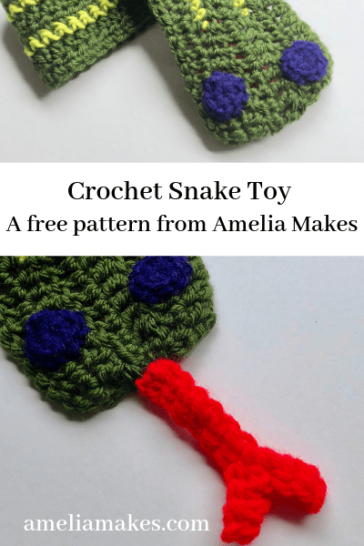 Crochet snake toy crochet project