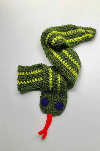 Crochet snake toy crochet project