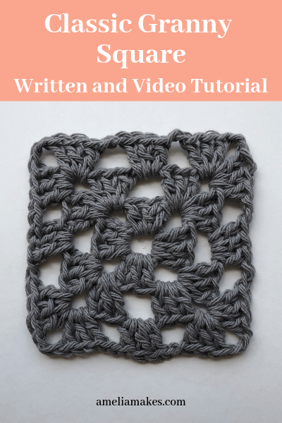 How to crochet a granny square pin