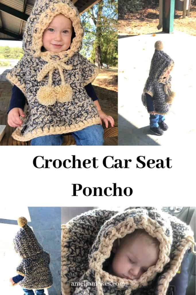 Crochet Poncho multi-image pin