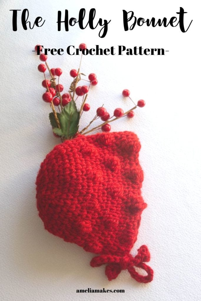 christmas crochet bonnet