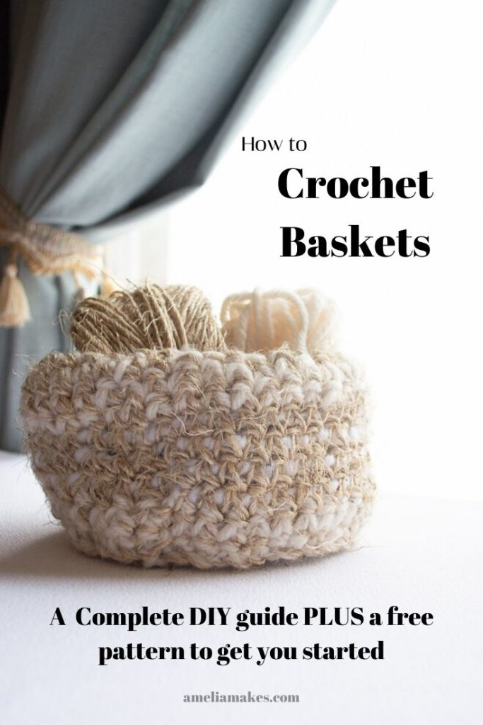 Guide to crocheting baskets