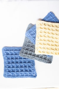 crochet waffle stitch washcloths