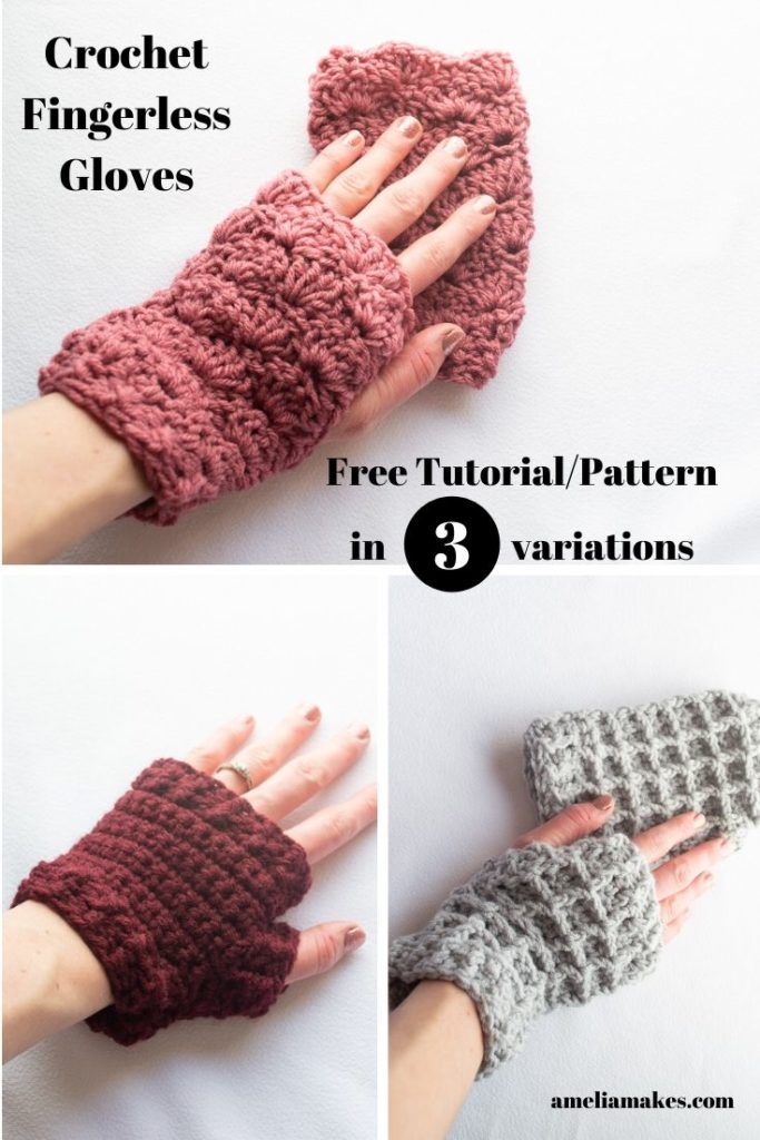 Crochet fingerless gloves free patterns