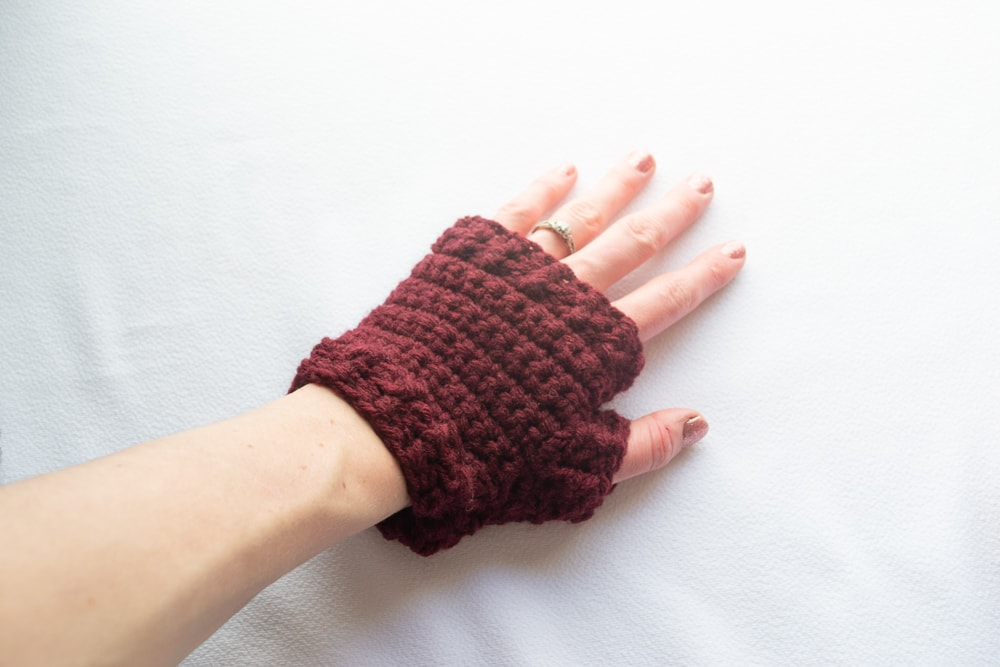 crochet fingerless gloves crochet patte