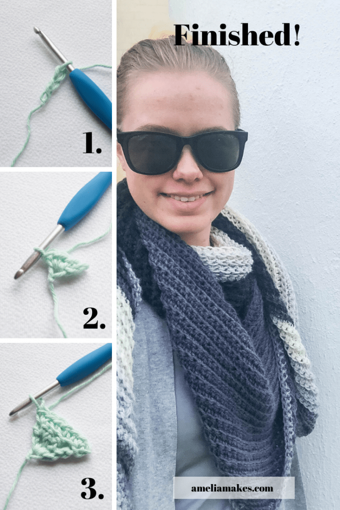 crochet Shawl Pin 1