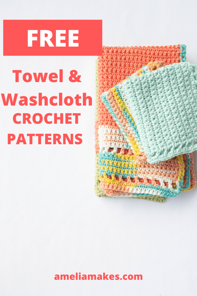 Pin for crochet towel and washcloth