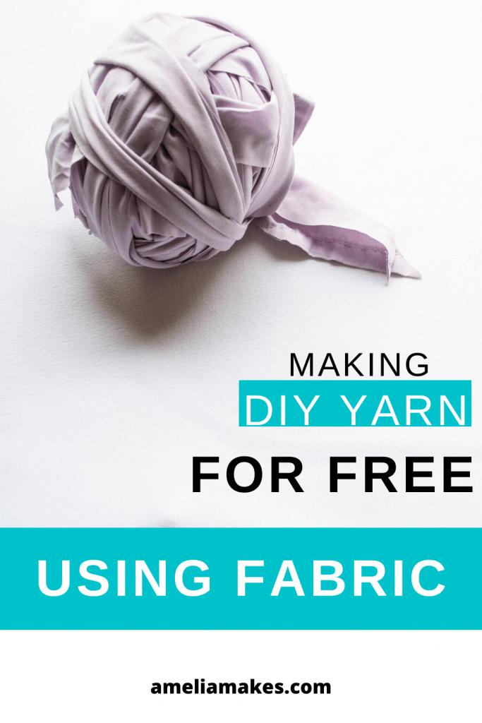 How to make fabric yarn pin 2