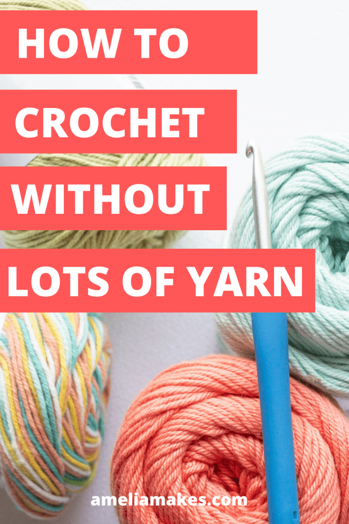 crocheting low on yarn pin 3
