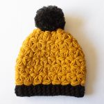 simple shot of finished crochet beanie pattern