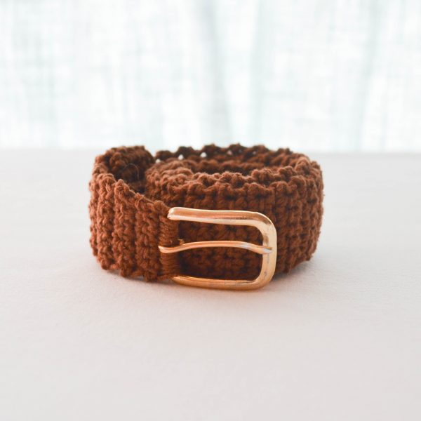 crochet belt rolled up
