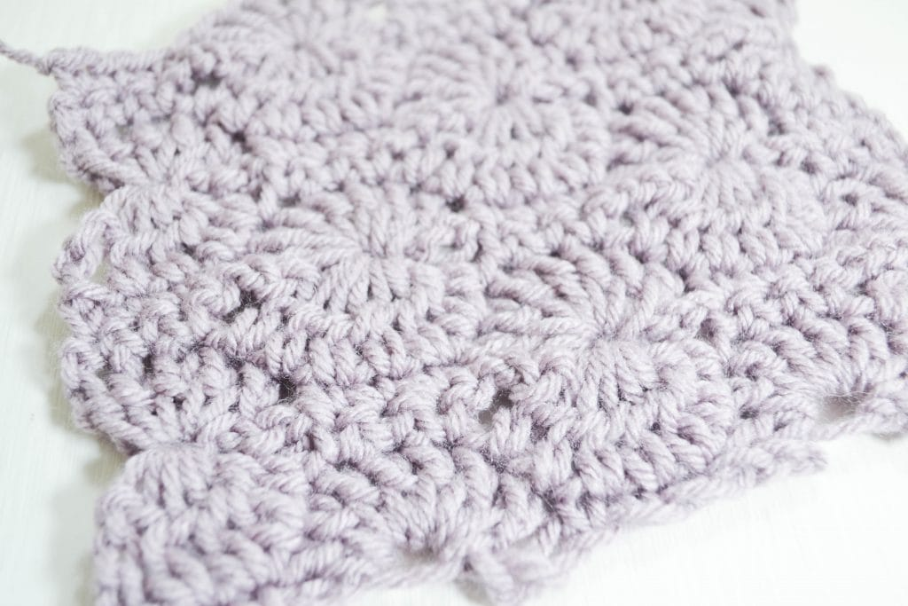 Crochet Catherine's Wheel Stitch worked in one color