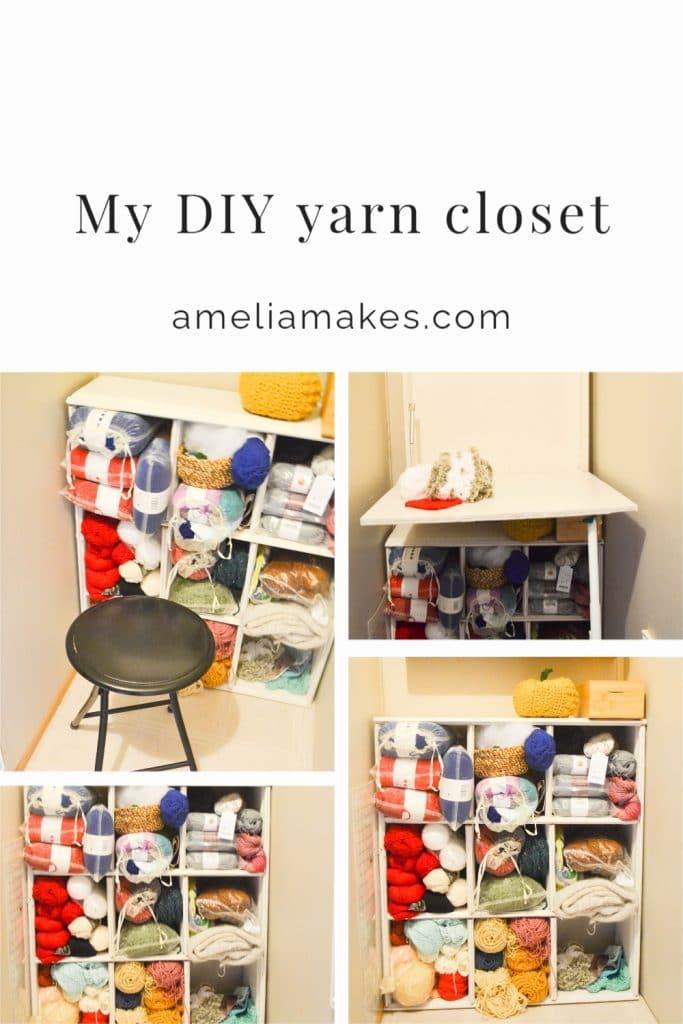 Pinterest image for DIY craft closet