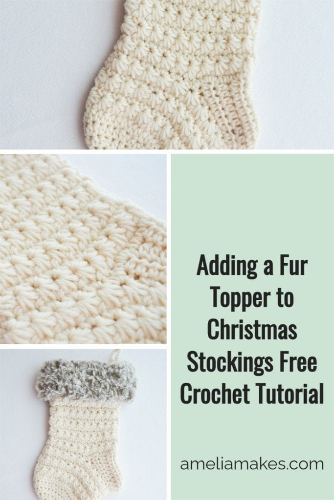 Pin image for the Crochet Stocking pattern that uses the star stitch