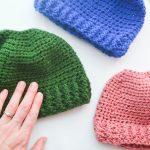 Messy Bun Hat Crochet Pattern Featured Image