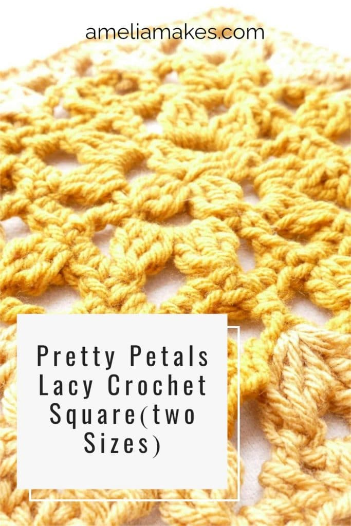 Pin Image for the lace crochet square