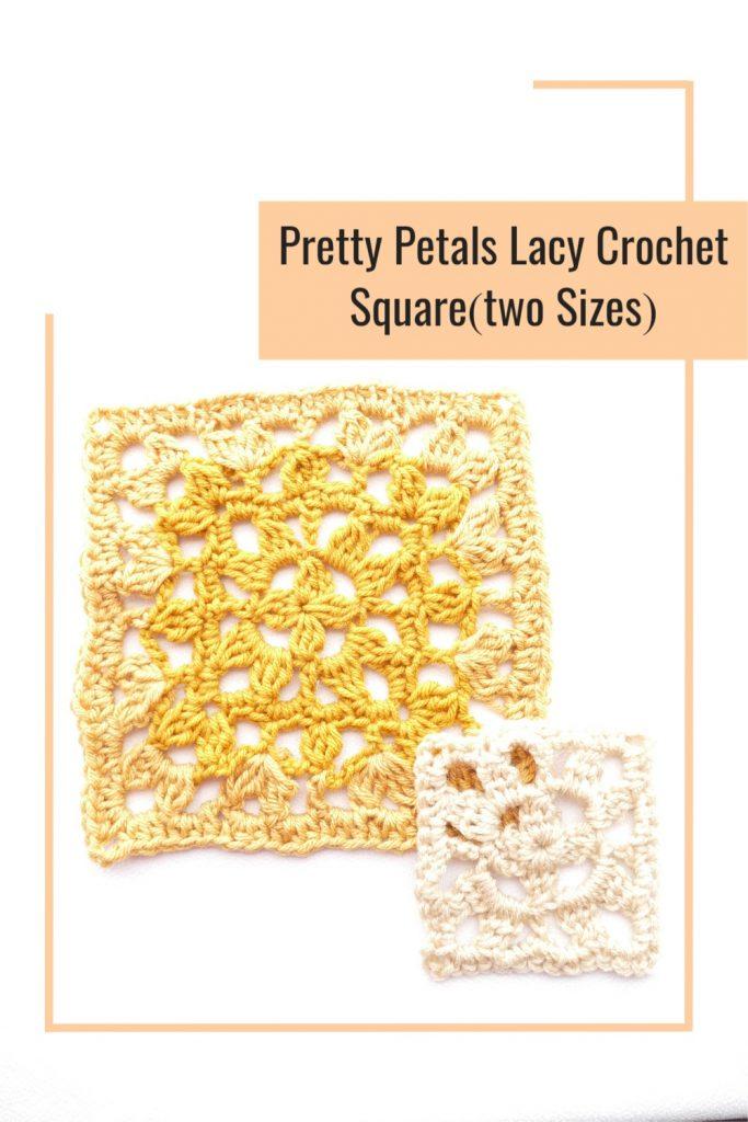 Pin Image 2 for the Pretty Petals Square